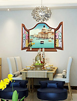 3D Wall Stickers Wall Decals, Water Venice PVC Wall Stickers