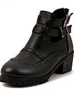 Women's Shoes Chunky Heel Comfort Boots Outdoor Black