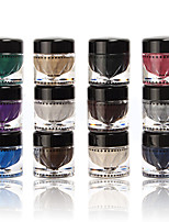 12 Color/Sets Music Flower Eye Shadow Gel Cosmetic Shimmer Cream Eyeshadow Makeup