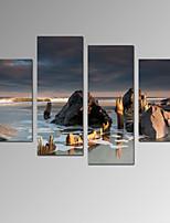 Vrije tijd / Landschap / Fotografisch / Vaderlandslievend / Modern / Romantisch / Reizen Canvas Afdrukken Vier panelen Klaar te hangen ,