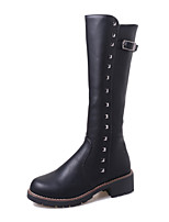 Women's Shoes Chunky Heel Wedges / Comfort / Combat Boots / Round Toe Boots Casual Black / Brown / Gray
