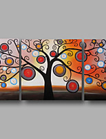 Hand-Painted Oil Painting on Canvas Wall Art Abstract Blossom Flowers Trees Modern Three Panel Ready to Hang