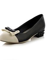Women's Shoes Chunky Heel Comfort / Round Toe Heels Outdoor / Office & Career / Dress / Casual Black / Purple / Beige