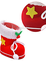 1pcs  Red Creative Christstmas Candy Boots Party Decoration  Christmas Decorations for Home