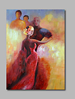 Hand-Painted Oil Painting on Canvas Wall Art Impressionist Dancer Figure One Panel Ready to Hang