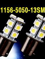 2 X White 1156 BA15S 13-SMD 5050 LED Light bulbs Turn Signal Backup Reverse