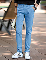 Autumn Men's Clothing Male Straight Male Slim Pants Fashion Trousers Casual Pants