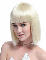 High Quality Synthetic Full Bang Short Bob Light Blonde Hair Wigs