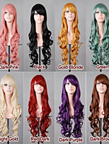 70 cm Long Curly  Multicolor optional  Hair Air Volume High Temperature Silk Wig