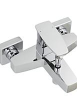 ENZORODI Shower Faucet Tap - Contemporary Style,Single Handle, Brass Chrome,Wall Mount ERF672106C-B