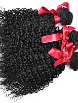 encaracolado Kinky brasileiras virgens 3pcs / lot tecer cabelo 7a brasileiros afro cacheados cabelo 100% humano extenisons pacotes de 100g