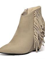 Women's Shoes Wedge Heel Heels Boots Outdoor Black / Khaki