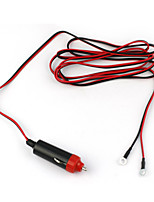 DearRoad DC 12V/24V 100W Full-Copper Car Refit Cigarette Lighter Power Cord Line Wire Cable 2M