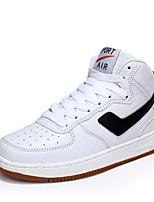 Dames Sneakers Lente / Zomer / Herfst / Winter Comfortabel Microvezel Buiten / Informeel / Sport Platte hak Veters Zwart / Wit / Grijs