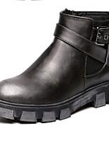 Women's Shoes Flat Heel Comfort Boots Outdoor Black / Silver / Burgundy