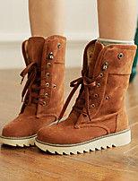 Women's Shoes Low Heel Fashion Boots Boots Casual Brown / Yellow / Beige