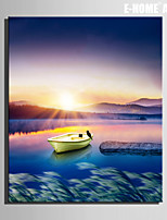 E-HOME® Stretched Canvas Art Boat on The Lake Decorative Painting One Pcs