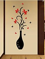 Botanical / Fashion Adesivi murali Adesivi aereo da parete , 亚克力 37.6cm*88cm