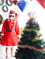 3 en 1 trajes de Navidad para las mujeres fantasias animado vestido falta santa claus trajes vestidos de fiesta femenina cosplay
