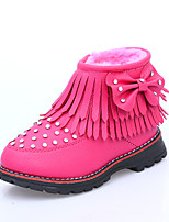 Girls' Shoes Casual Snow Boots / Bootie / Comfort / Round Toe Boots Black / Red
