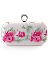 L.WEST Woman Fashion Flower Embroidery Evening Bag