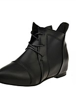 Women's Shoes  Wedge Heel Combat Boots / Pointed Toe Boots Outdoor / Casual Black / Gray
