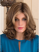 Women's Fashion Middle Length Wig Mix Color Top Quality Synthetic Wig cosplay