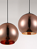 E27 15CM Line 1M Creative Restaurant Contemporary And Contracted Art Glass Ball Pendant Lamp Plating Gold LED 1PC