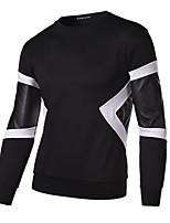 Men's Long Sleeve T-Shirt , Polyester Sport Striped