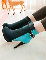 Women's Shoes Leatherette Stiletto Heel Combat/ Round Toe Boots / Office & Career / CasualBlack / Blue / Green / Red /