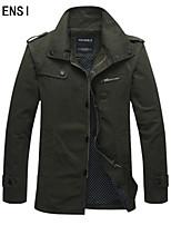 Fall jacket slim young thin size male leisure coat long cotton jacket men's jacket tide