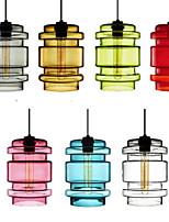 E27 17*24CM Line 1M Candy Color Single Head Art Glass Chandelier Led