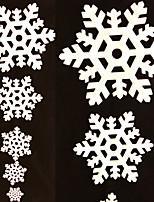 5pcs / set striscia di ghiaccio bianco fiocco di neve di natale natale finestra partito ornamento decorazione festa decorazione della casa