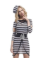 Performance Dresses Women's Performance Polyester Sash/Ribbon 3 Pieces Zebra