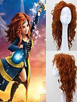 New BRAVE Movie MERIDA Long Curly Orange Anime Cosplay Wig
