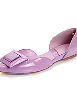 Women's Shoes Leather Flat Heel Comfort / Pointed Toe Flats Outdoor / Office & Career / Dress / Casual Yellow / Purple
