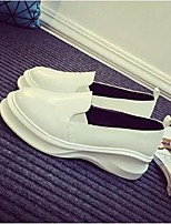 Women's Shoes Platform Comfort Loafers Casual Black / White