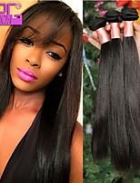 não transformados virgem cabelo humano reto de seda natural preto malaio trama do cabelo virgem