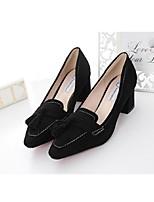 Women's Shoes Suede Chunky Heel Heels Heels Office & Career / Casual Black / Gray