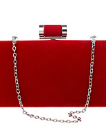 Women Polyester / Metal Minaudiere Clutch / Evening Bag - Purple / Blue / Red / Black