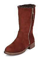Women's Shoes  Chunky Heel Snow Boots / Round Toe Boots Outdoor / Casual Black / Brown