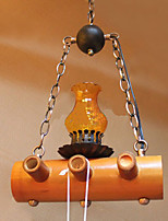 American Country Antique Bamboo Single Head Chandelier
