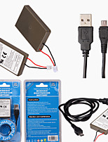 2000mAh 3.7V Rechargeable Replacement Battery Pack for Sony Playstation PS4 Controller with Charge Cable