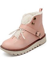 Women's Shoes Platform Platform / Fashion Boots / Round Toe Boots Dress / Casual Black / Yellow / Pink / Beige