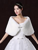 Wedding / Party/Evening Faux Fur Shawls Sleeveless Wedding  Wraps