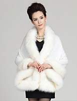 Women Lamb Fur Shawl & Wrap , Belt Not Included