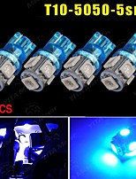 4X Ultra Blue T10 5 SMD 5050 LED Car Dome License Map Light W5W 158 192 194 168