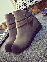 Women's Shoes  Low Heel Pointed Toe Boots Casual Black / Brown / Gray