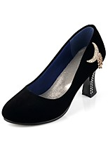 Women's Shoes Spool Heel Comfort / Round Toe Heels Outdoor / Office & Career / Dress / Casual Black