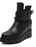 Women's Shoes Synthetic Wedge Heel Wedges Boots Casual Black